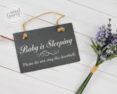 Baby is Sleeping Slate Sign