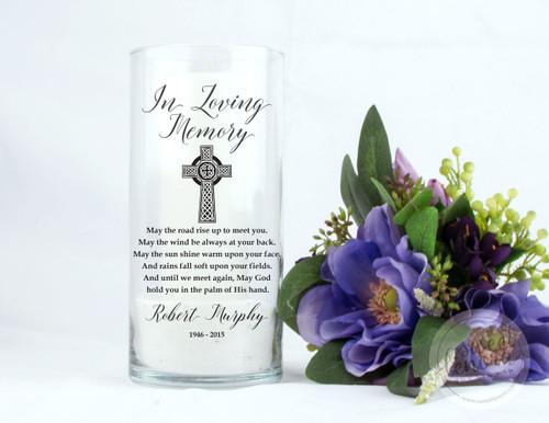 Irish Blessing Personalized Memorial Vase