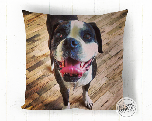 Custom Photo Throw Pillow