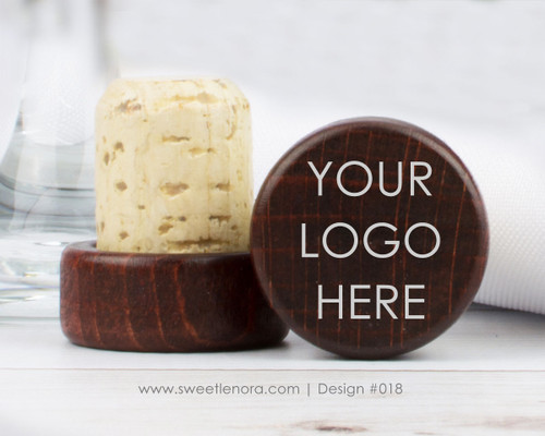 Your Logo Wine Stopper Favors 018