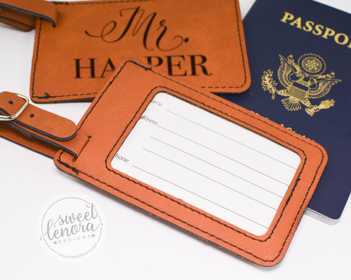 Script Mr. and Mrs. Luggage Tags (Set of 2)