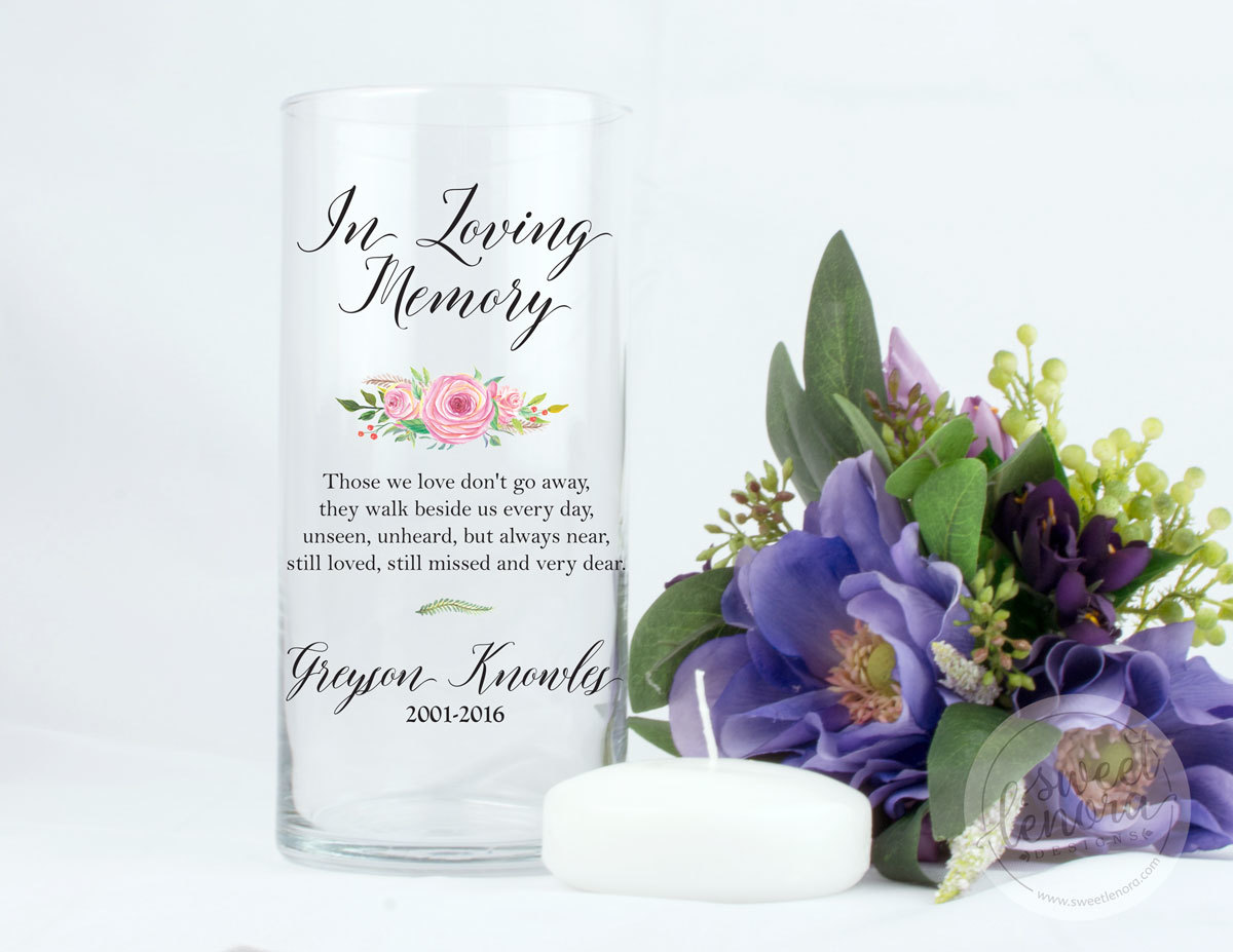 Memorial Signs and Vases