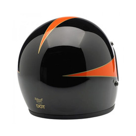 Gringo Helmet - Le Scallop in Black/Orange