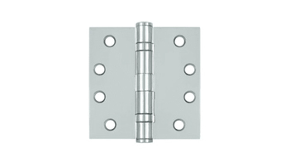 4in x4in Stainless Steel Butt Hinge, Ball Bearing