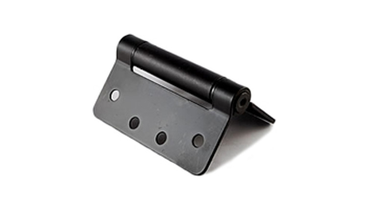 "Self Closing Gate Hinge, Butt Hinge, Black, 4x4 (1/4""R corners)"