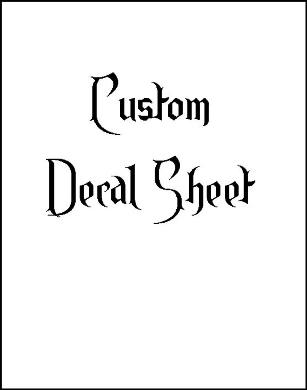 Custon Decal Sheet