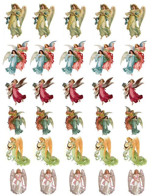 Victorian Angel Decal Sheet