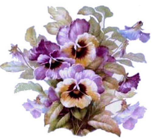 Lavender Pansy Cluster