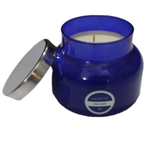 X Luxury Capri Blue 19 oz. Signature Jar Candle Volacano in Tropical Fruits & Citrus Scents for Self-Confidence & Joy Of Life