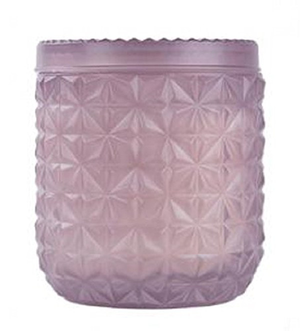 X Luxury Capri Blue 30 oz. Lilac Jumbo Faceted Jar Candle Exotic in Citrus, White Musk & Patchouli to Kindle Your Confidence & Creativity