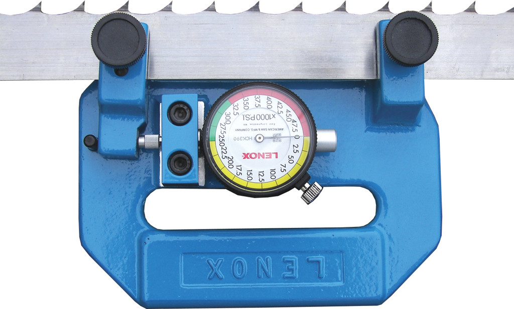 Tensionmeter check bandsaw blade tension