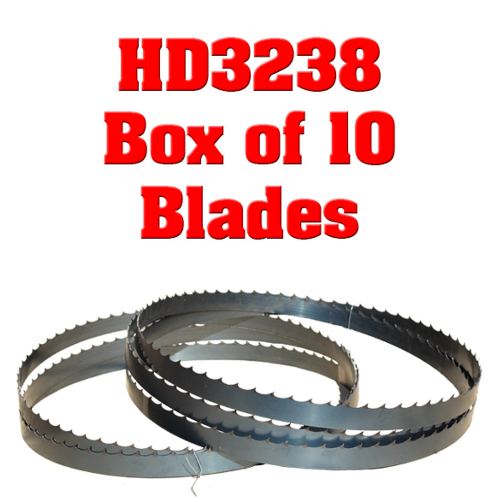 Bandsaw blades for the Cooks HD3238 sawmill