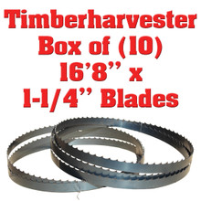 """Box of 10 Blades 16'8"""" x 1-1/4"""" Timberharvester"""