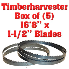Band saw blades for Timberharvester