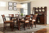 """84"""" Solid Oak Pub Table with two 10"""" leaves Opens to 104   Seats 12 people"""