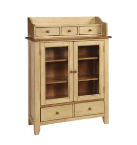 Chatham Display Cabinet Pecan Almond Finish
