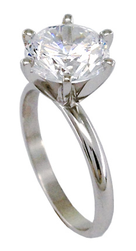 14 Karat Gold Cubic Zirconia Engagement Ring