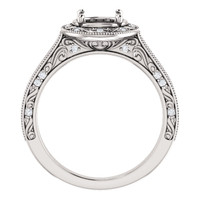 Stunning Vintage Style Halo Engagement Ring