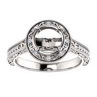 Halo Engagement Ring With Your Choice of Center Stone