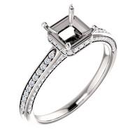 Beautiful Hidden Halo Cubic Zirconia Engagement Ring