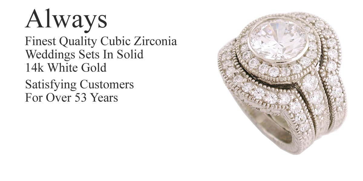 high end cz wedding sets