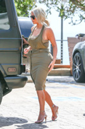 Kim Kardashian In Olive Green