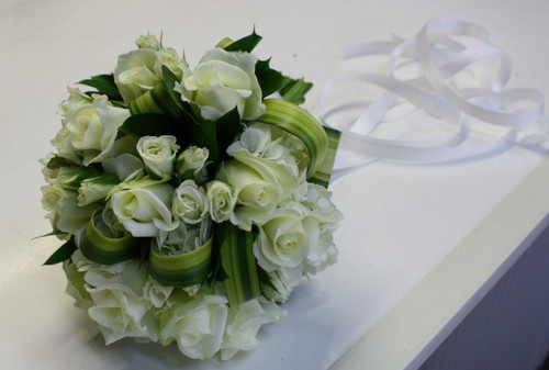 Fresh White Wedding Bouquet