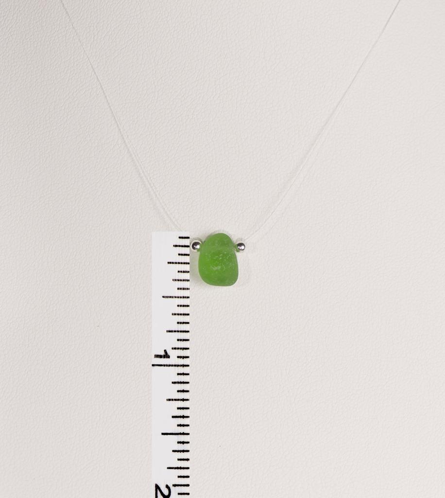 Petite Green Illusion Necklace