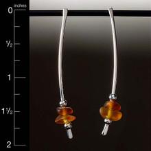 "Brown Beach Glass 2"" Dapped Earrings"