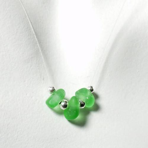 Green Tri-Glass Illusion Necklace