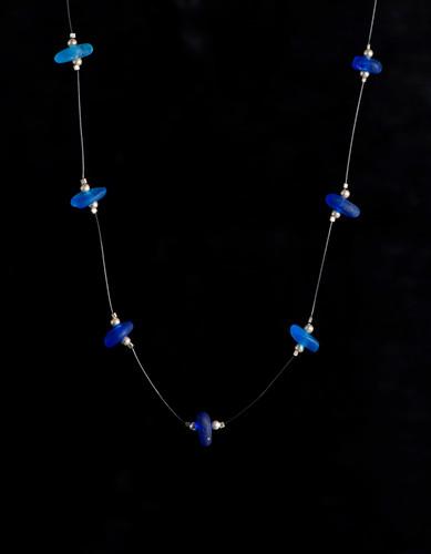 Cobalt Multi Illusion Beach Glass Necklace