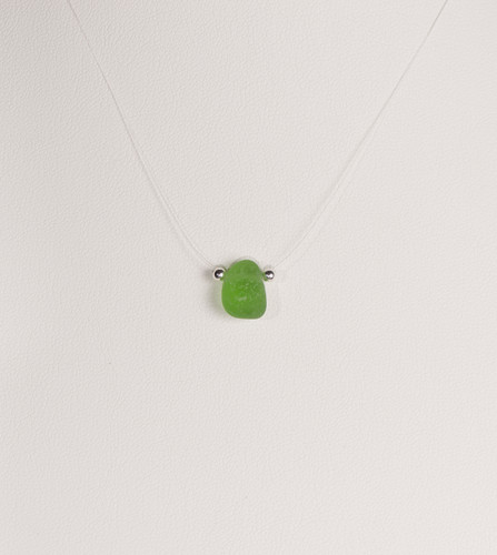 Petite Green Illusion Necklace
