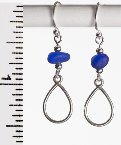 Cobalt French Wire with Pear Shape Detail
