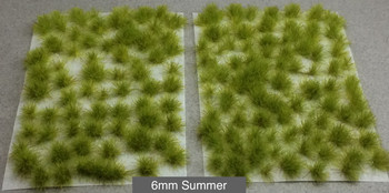 6mm Self-Adhesive Static Grass Tufts - Natural Layout Army Pack
