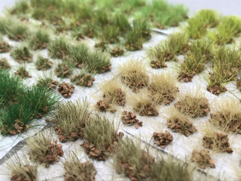 6mm Self-Adhesive Static Grass Tufts - Brown Rocky Sampler