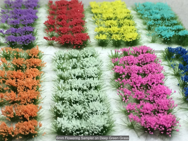 6mm Self-Adhesive Static Grass Tufts - Flower Sampler