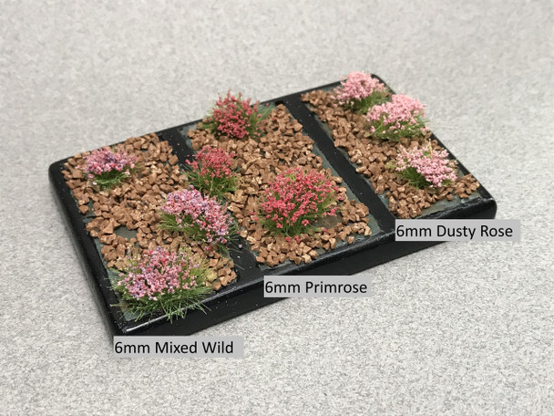 6mm Realistic Self-Adhesive Flowering Tufts - Wild Spring