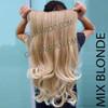 005W MIX BLONDE HAIR EXTENSIONS SOFT CURLS -170G (WATCH VIDEO)