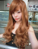 #5705 2730 NEW ARRIVAL NON SHINY REALISTIC FIBER LONG WAVE CURLS WIG