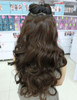 #005W COLOUR #6 DARK BROWN CURLY HAIR EXTENSIONS