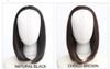 #5018 non shiny very natural half wig