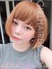 #3864 short edgy bob wig with bangs premium ultra soft bright colour