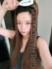#5008 rebonded long very straight 3/4 wig