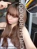 black roots long wig