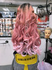 Pink hair extensions 190g (many videos inside)