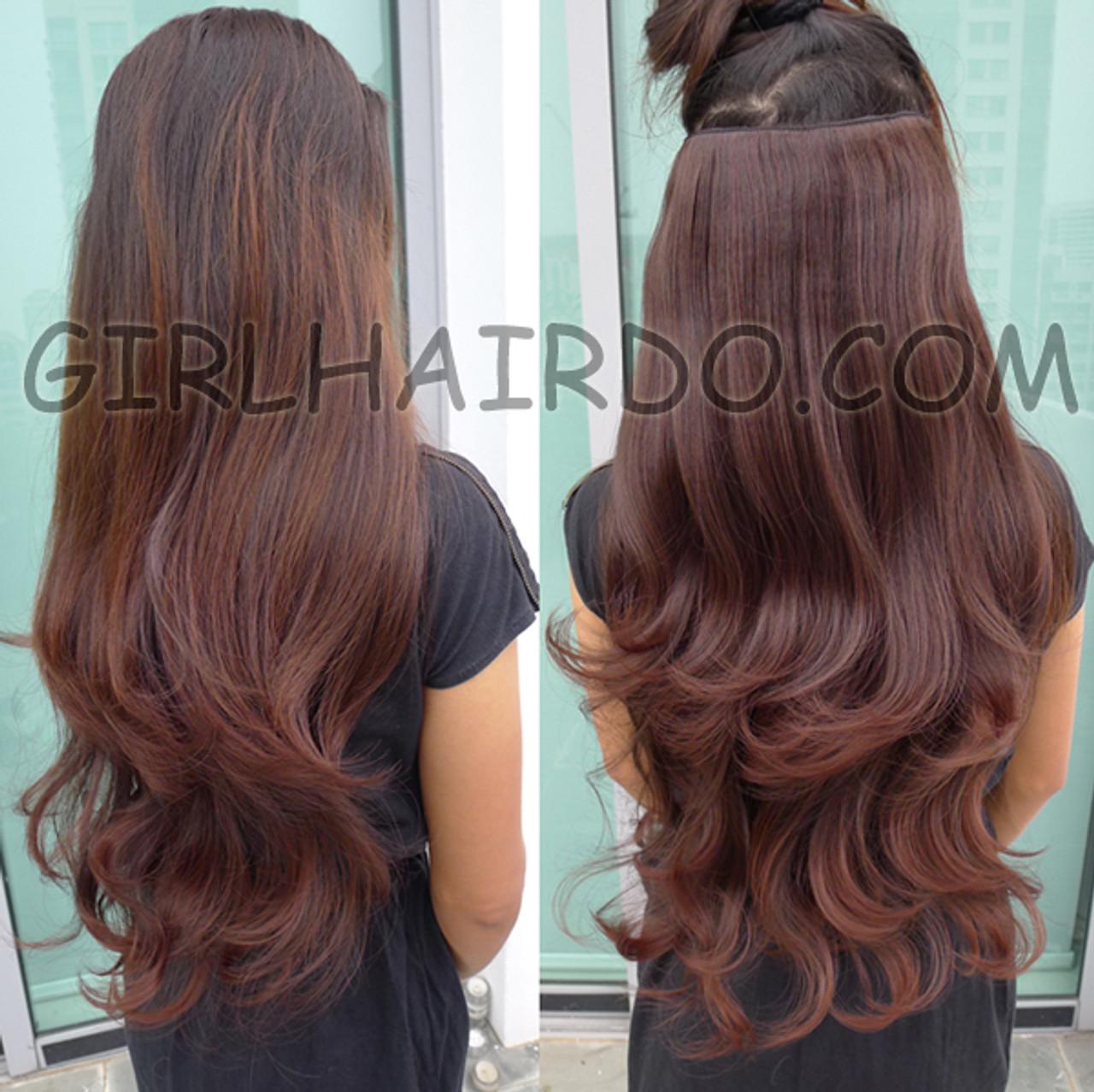 005w New Super Popular Hair Extensions Black Dark Brown