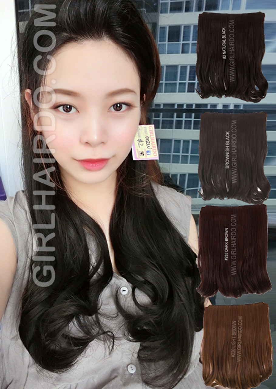 002w 50 Cm Long Hair Extensions Full Piece Girlhairdo