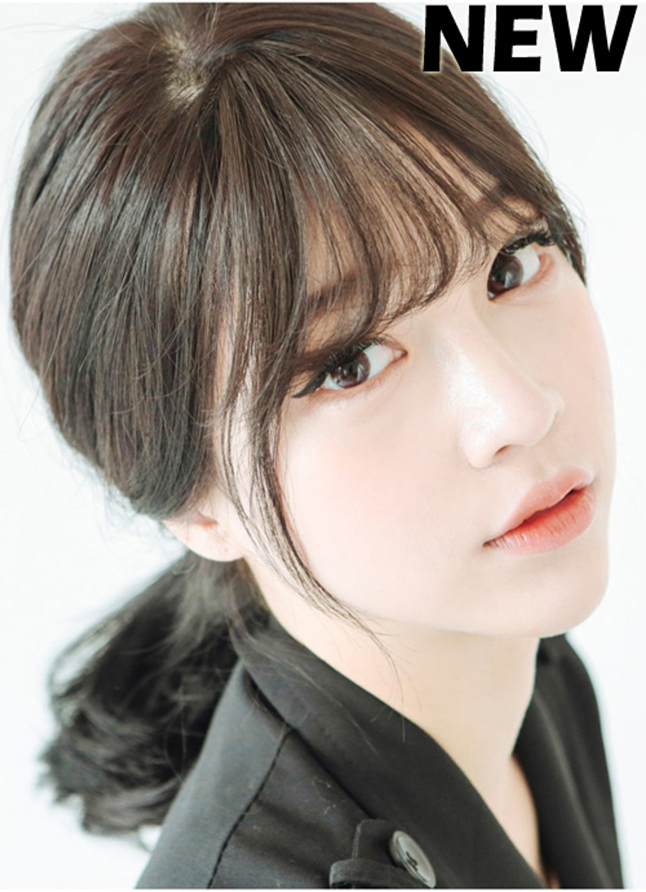 Korean Bangs Thin Version Non Shiny Girlhairdo Com