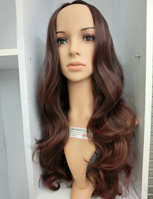 #6966 CENTER PARTING WIG COLOUR #233 DARK BROWN