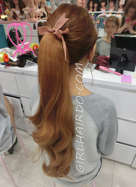 1379 colour #2730 Premium Very realistic Super thick and Long Soft Curl Ponytail - looks like real hair / heat resistant too